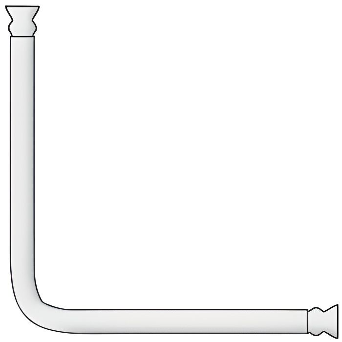 DOUCHETTE - FLEXIBLE Barre angle universelle - blanc - 25 mm