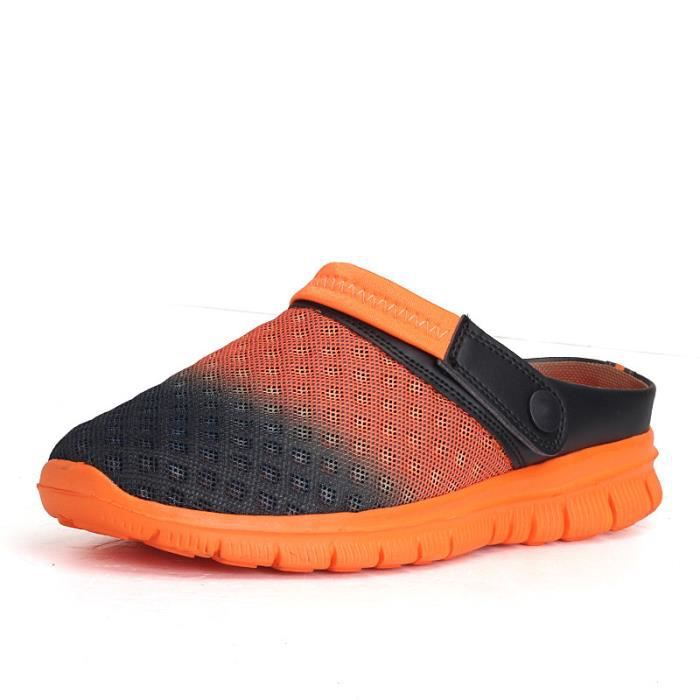 Sandales Plage Flops Flip Casual Chaussures Femmes Respirante 7502 6495@hommes Maille Couple ZqnxAFXnCw