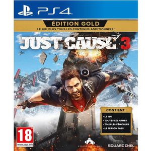 JEU PS4 Just Cause 3 Edition Gold Jeu PS4