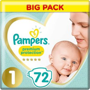 COUCHE PAMPERS Premium Protection New Baby Taille 1, 2 à