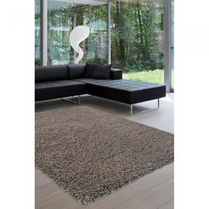 tapis shaggy taupes achat vente pas cher. Black Bedroom Furniture Sets. Home Design Ideas
