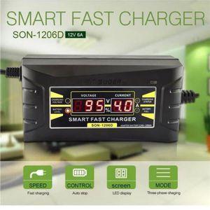 CHARGEUR CD VOITURE 12V 6A intelligent rapide Chargeur de batterie plo