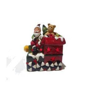 FIGURINE - PERSONNAGE Figurine Père-noël avec cadeaux - Décoration lumin
