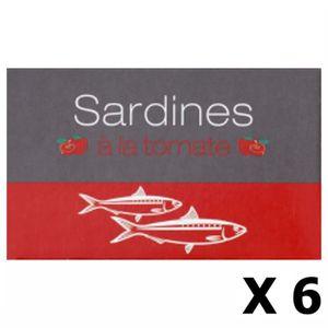 PRODUIT DE SARDINE Lot 6x Sardines à la tomate - Maroc - conserve 125