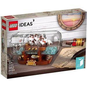 ASSEMBLAGE CONSTRUCTION LEGO® IDEAS 21313 Bateau dans une Bouteille