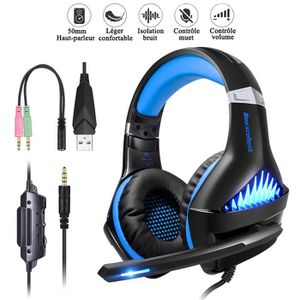 CASQUE AVEC MICROPHONE Beexcellent Casque Gaming pour PS4 PC Xbox One, Je