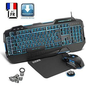 PACK CLAVIER - SOURIS Pack Gamer PC Hellhounds - Clavier souris tapis -