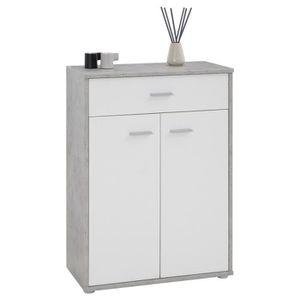 BUFFET - BAHUT  Buffet CALAIS, commode meuble de rangement avec 1
