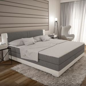 boxspring achat vente boxspring pas cher les soldes sur cdiscount cdiscount. Black Bedroom Furniture Sets. Home Design Ideas