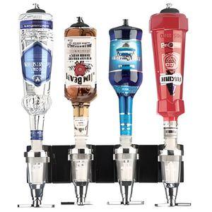 PORTE-BOUTEILLE Support mural 4 bouteilles alignées avec doseur