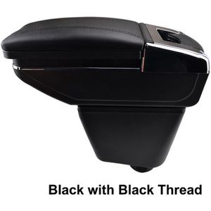 avec compartiment noir avec des coutures blancs cuir-synth/étique pro.tec rembourr/é Accoudoir central