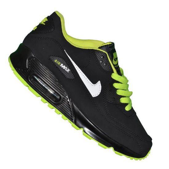 Nike - Basket - Femme - Air Max 90 Essential 97 - Noir Vert Fluo ...