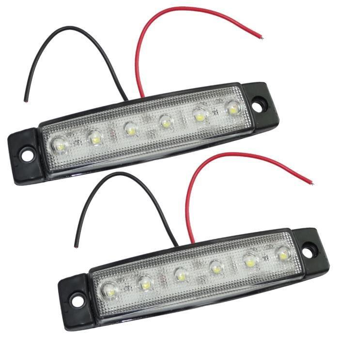 2 feu de gabarit à 6 LED 24V 97/21mm couleur blanc