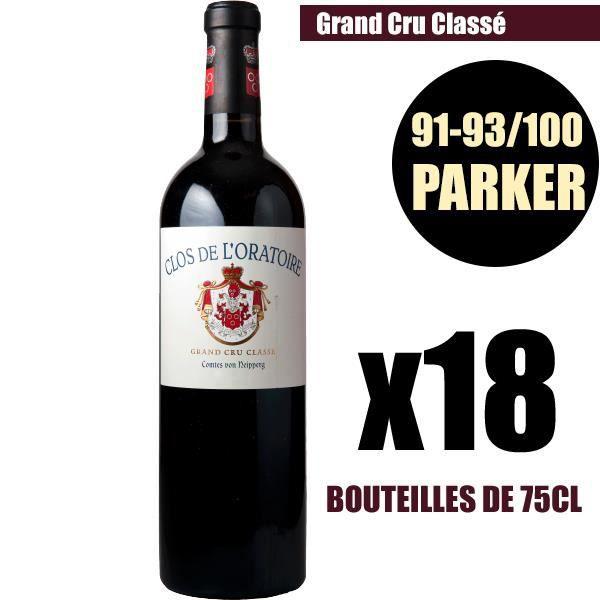 X18 Clos de l'Oratoire 2016 Rouge 75 cl AOC Saint-Émilion Grand Cru Classé Vin Rouge