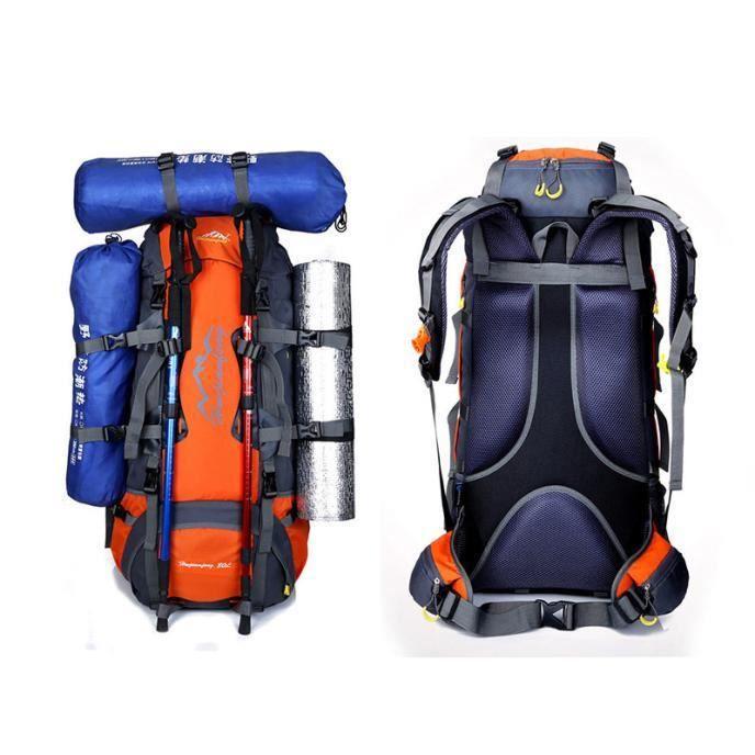 80 imperméable à l'eau sports tactique Camping randonnée sac à dos bagage bagages nouveau YJL60801762OR
