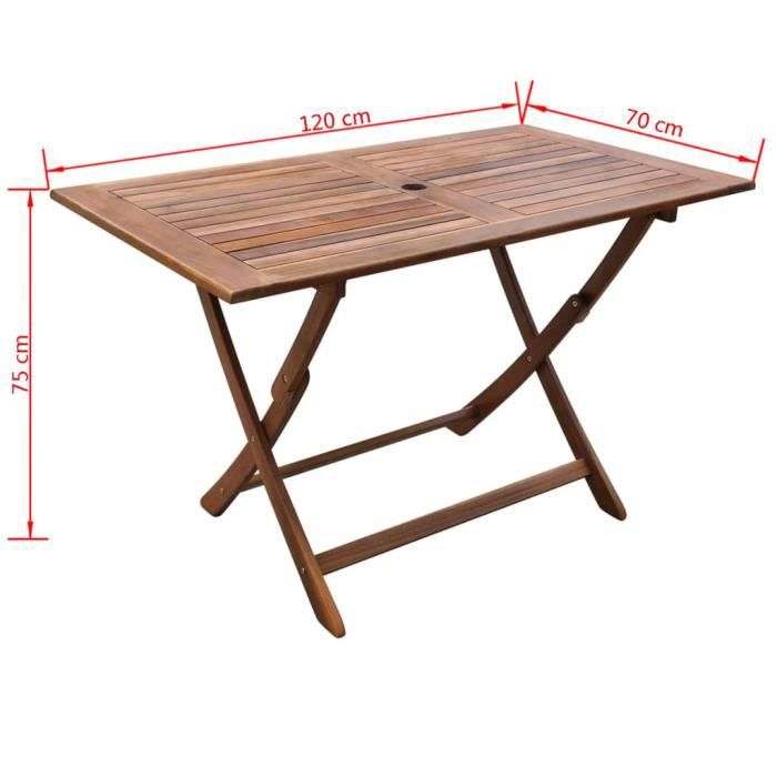 Super -Table de jardin - Table d'appoint Table de reception 120x70x75 cm Bois d'acacia massif @745236