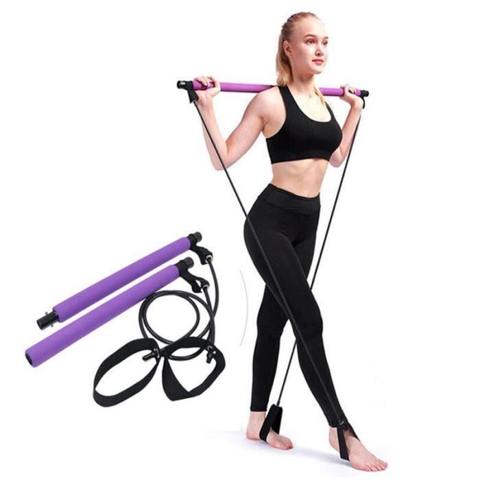 Pilates Barre Bâton Yoga Crossfit Bandes Élastiques de Résistance Exerciseur Corde De Traction Portable Gym Fo JS10155