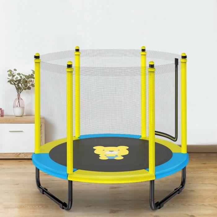 Trampoline pour enfants de 150 cm de diamètre Mini trampoline pour enfants intérieur et extérieur, cadeau pour enfants