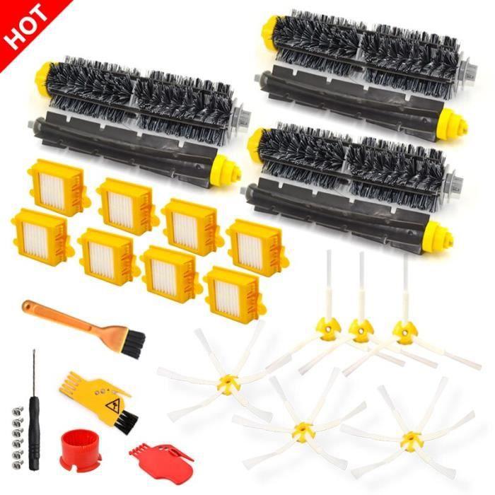 Kit de réapprovisionnement pour aspirateur iRobot Roomba série 700, pièces détachées, brosse à poils roulants et filtre CB6503