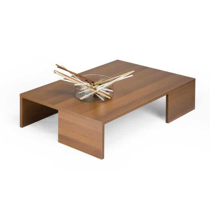 Mobili Fiver, Table basse, Rachele, Noyer, Mélaminé, Made in Italy