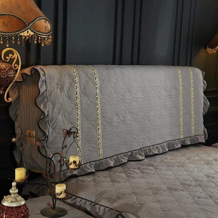 tete de lit bois Bois Massif Simple et Moderne, Style européen Tout Compris Protecteur Housse Tête De Lit avec Côté Extensible A190