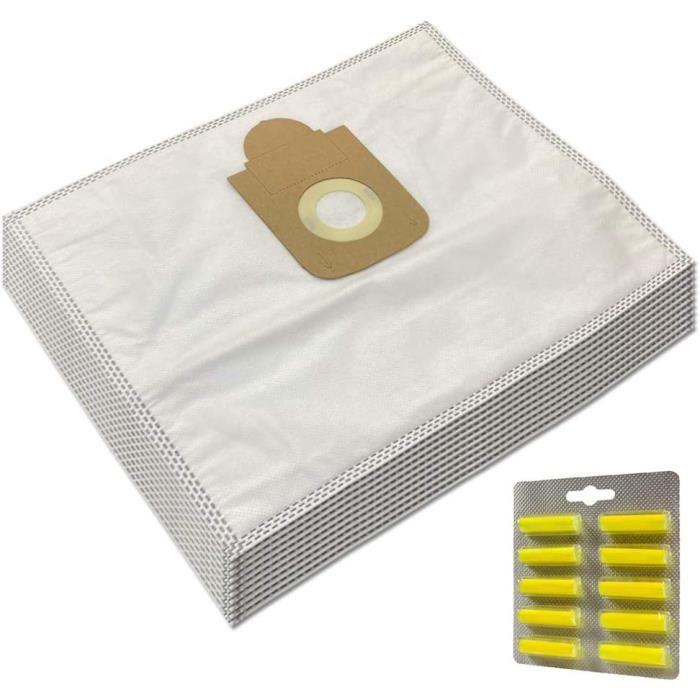 SAC MohMus Set 10 Parfums 10 Sacs Aspirateur pour Rowenta Silence Force 4A Compact RO6432408