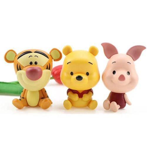 Ensemble de 3 pièces / Disney Winnie l'ourson Tigrou beau cochon jouet détachable pour enfants