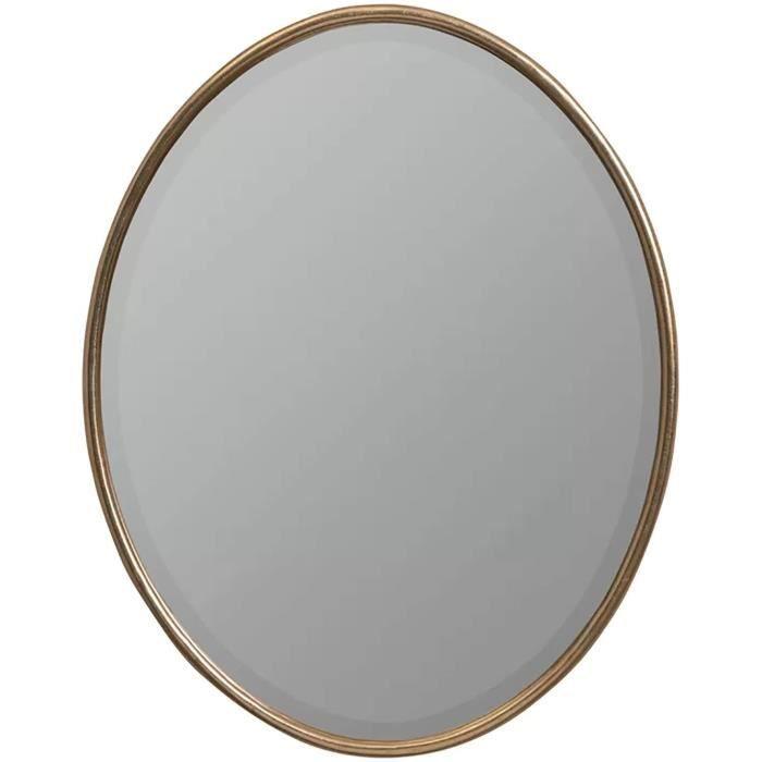 MIROIR DE SALLE DE BAIN Design lgant Un design mural accrocheur de forme ovale un miroir en verre biseaut poli tendance et beau 1517