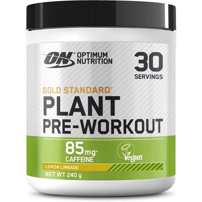 Optimum Nutrition ON Gold Standard Plant Pre-workout, Pré-entraînement Vegan en Poudre avec Caféine, Citron Limeade, 30 Portions137