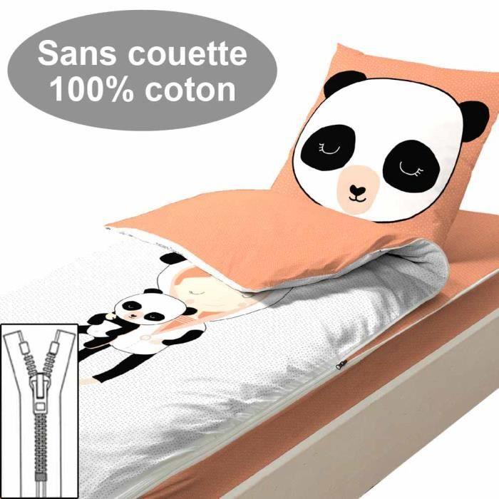 Couchage sans couette 90x190 Miss Panda