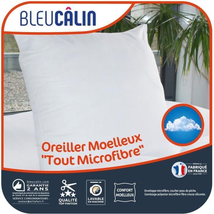 BLEU CALIN Oreiller moelleux - Blanc