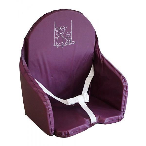 Looping Coussin Chaise Haute Sangles Cassis Prune