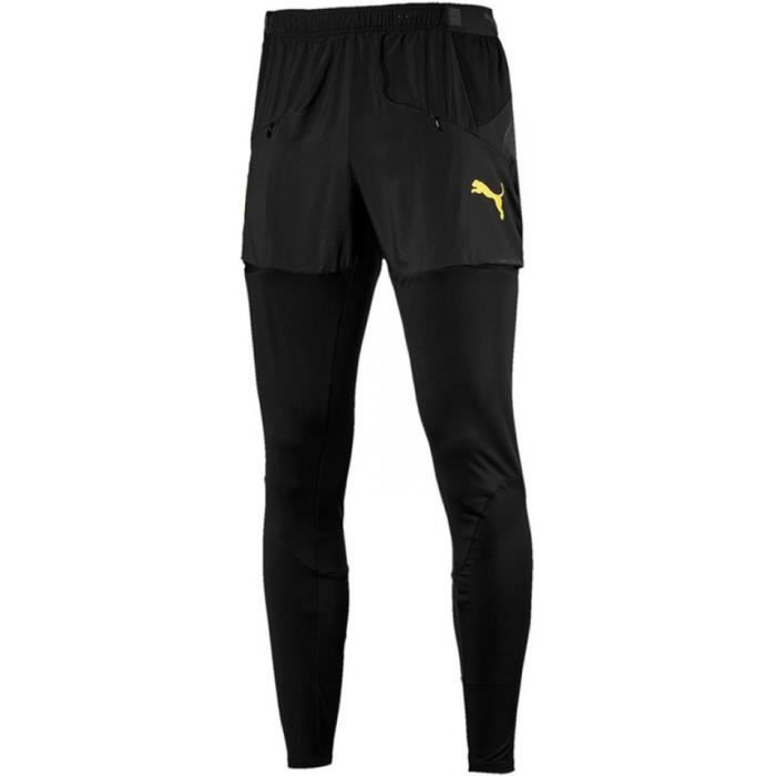 Pantalon de survêtement Puma Borussia Dortmund Stadium Pant coloris Puma Black - Cyber Yellow