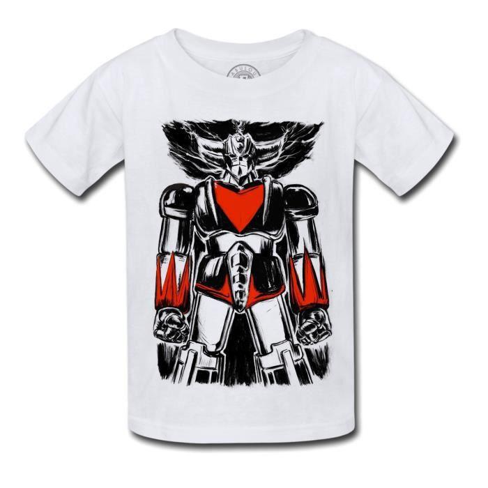 T-shirt Enfant Goldorak Dessin Manga Robot Dessin anime