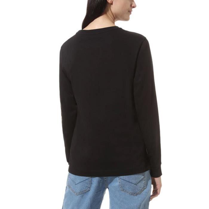 Vans T-Shirt pour Femme Manches Longues Space Cadet Noir VN0A4BE9BLK