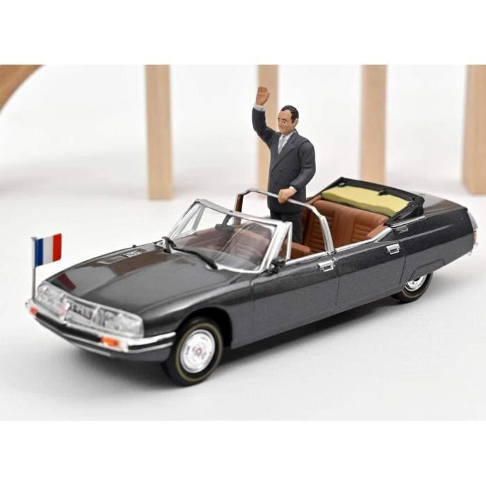 Citroën SM Présidentielle République Française 1981 Figurine Président Jacques Chirac Voiture de Collection NOREV 1/43