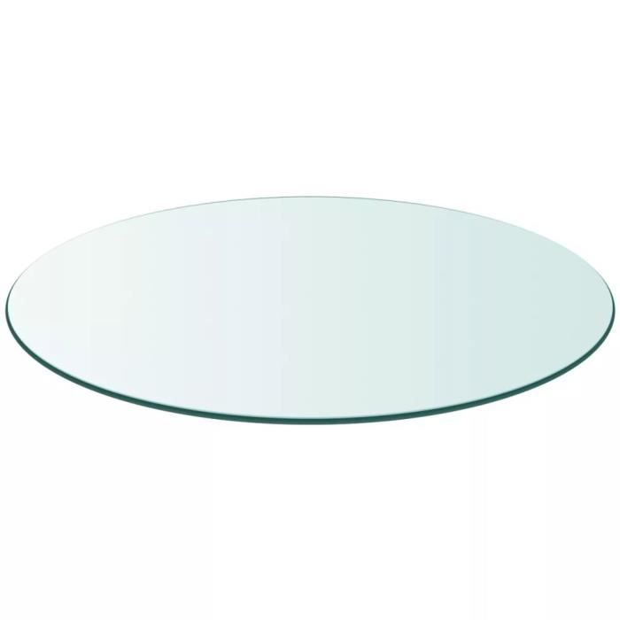 Dessus de table-Plateaux de table ronde en verre trempé 400 mm