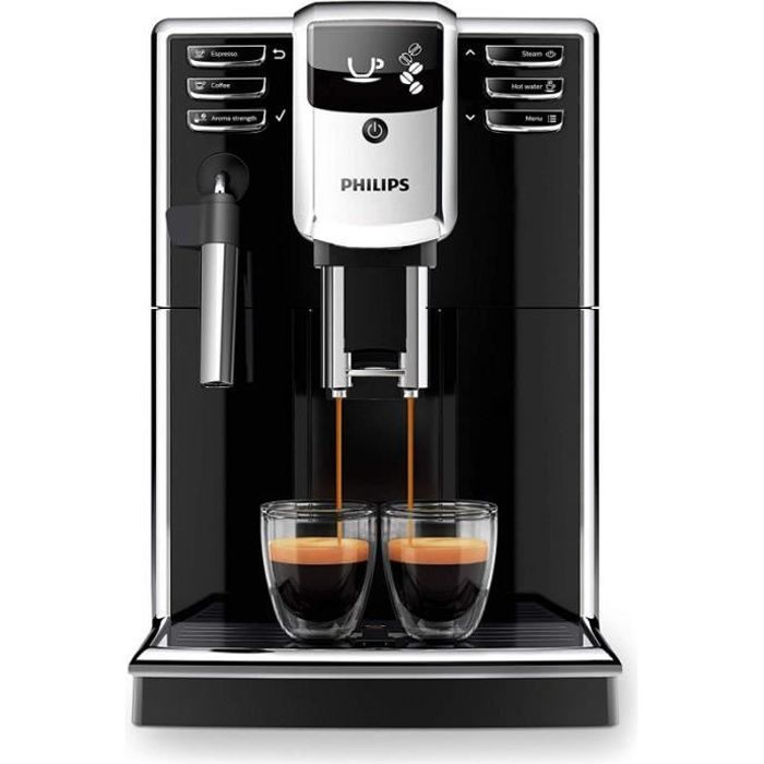 Philips EP5310/10 S5000 Machine à expresso automatique avec mousseur à lait manuel, noir