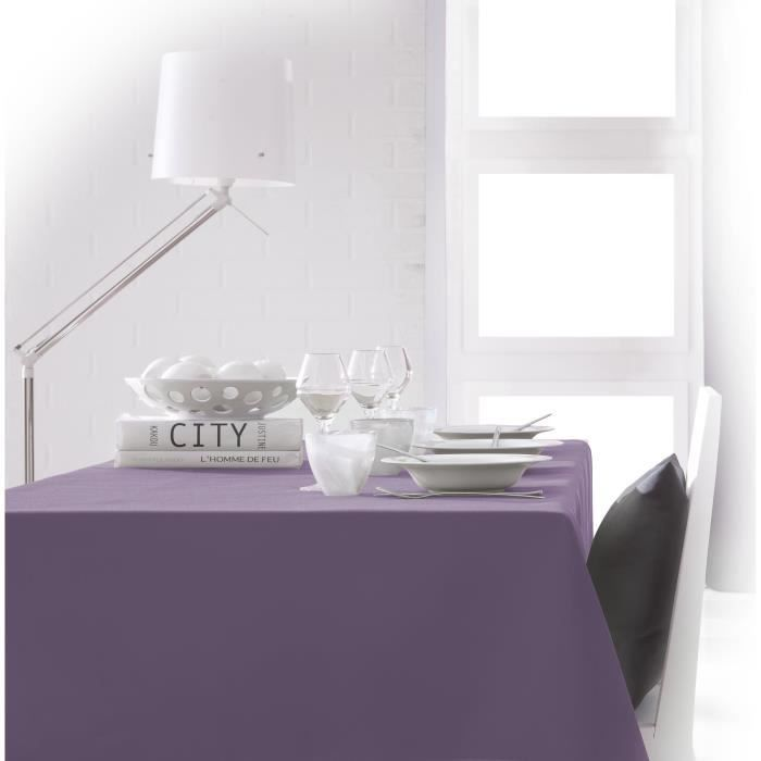 TODAY Nappe rectangulaire 150x250 cm - Violet figue