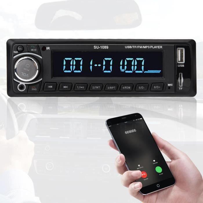 za001-Autoradio Bluetooth HD Lecteur MP3 Autoradio Multimédia MP3-1089 FM - SD - TF