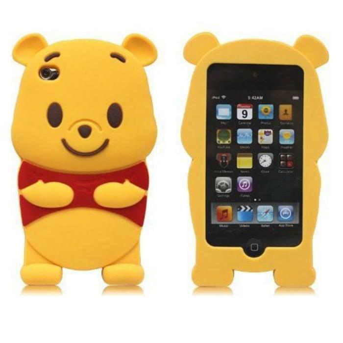 Coque Samsung Galaxy Ace (S5830) jaune mignon 3D Winnie l'ourson ...