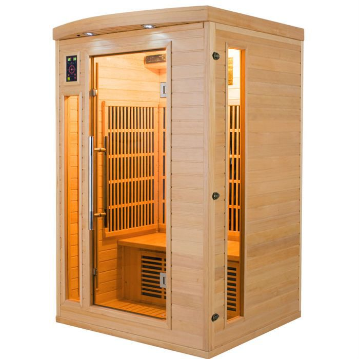 sauna infrarouge apollon 2 places achat vente kit. Black Bedroom Furniture Sets. Home Design Ideas