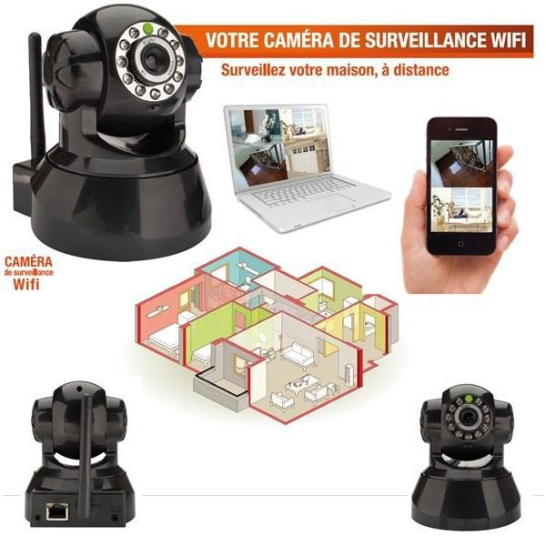 camera de surveillance sans fil wifi motorisee achat vente cam ra analogique cdiscount. Black Bedroom Furniture Sets. Home Design Ideas