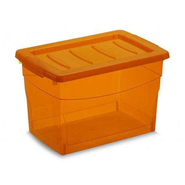 boite plastique 16l orange achat vente boite bac. Black Bedroom Furniture Sets. Home Design Ideas