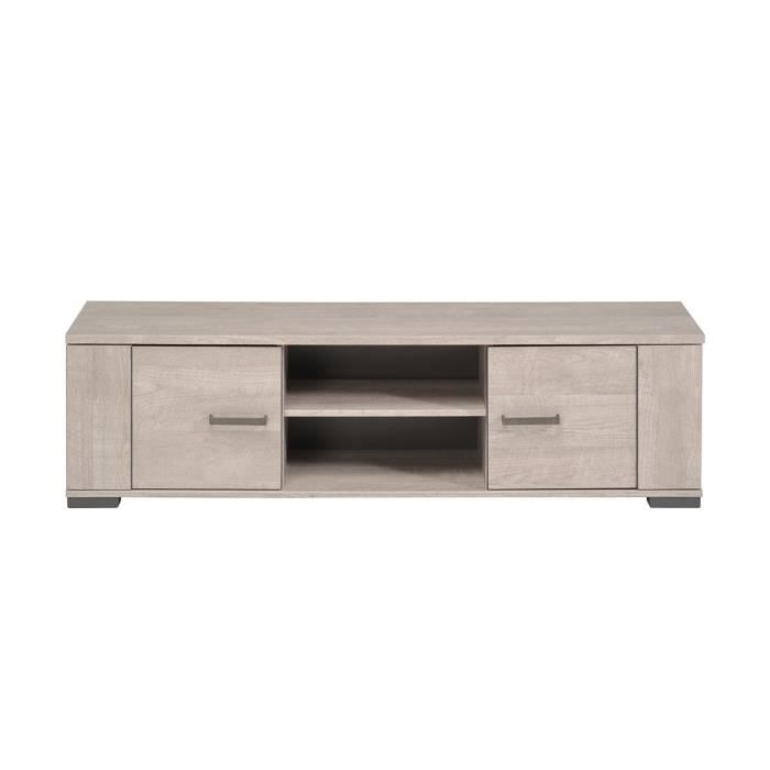 meuble tv ch ne gris harvey achat vente meuble tv meuble tv ch ne gris harvey cdiscount. Black Bedroom Furniture Sets. Home Design Ideas