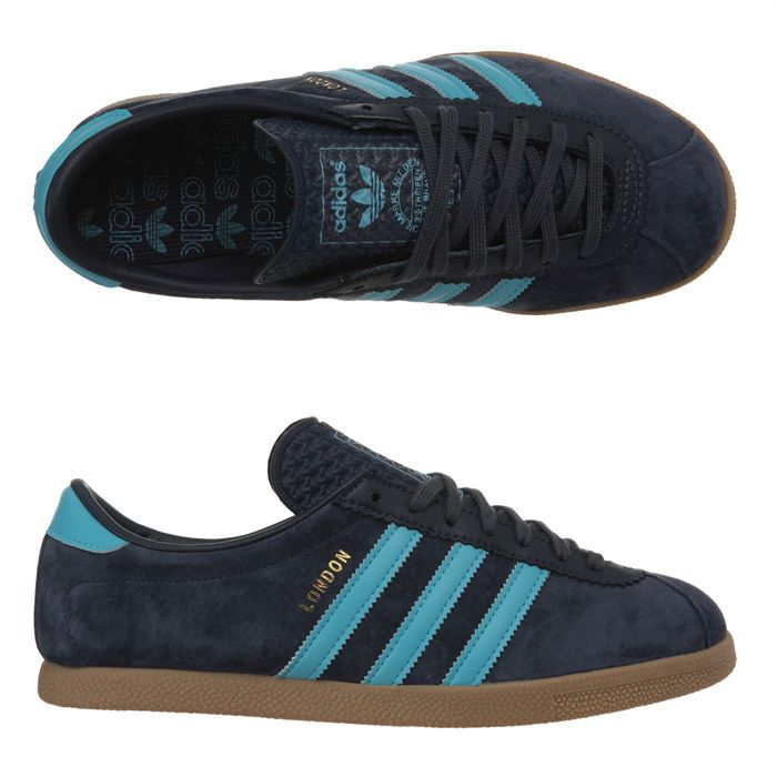 adidas baskets london homme homme bleu marine et bleu ciel achat vente adidas london homme. Black Bedroom Furniture Sets. Home Design Ideas