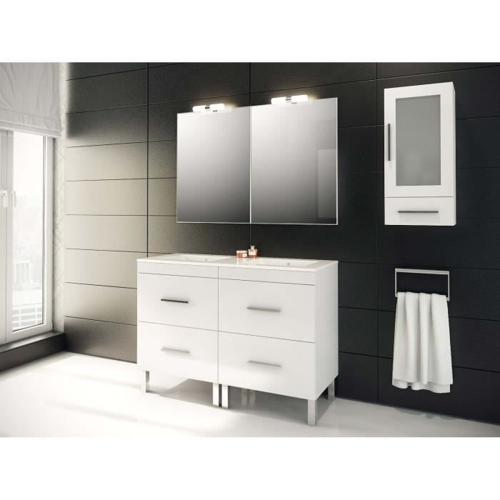 granada ensemble meuble de salle de bain blanc 120 cm achat vente meuble vasque plan. Black Bedroom Furniture Sets. Home Design Ideas
