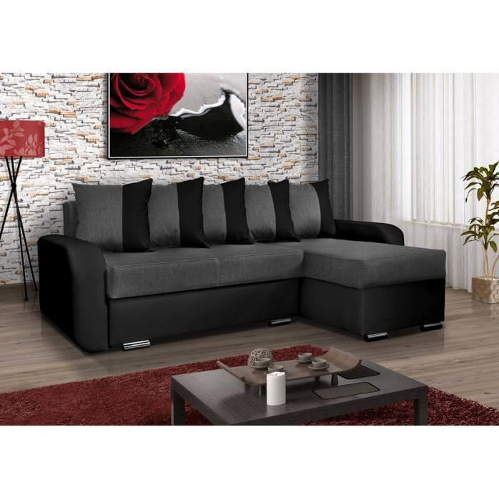 canap d 39 angle convertible calypso moderne achat vente canap sofa divan tissu simili. Black Bedroom Furniture Sets. Home Design Ideas