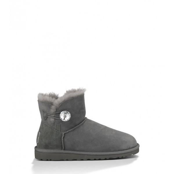 Ugg Bottines Bailey Button Bling Gris 9Yhzkqw7j