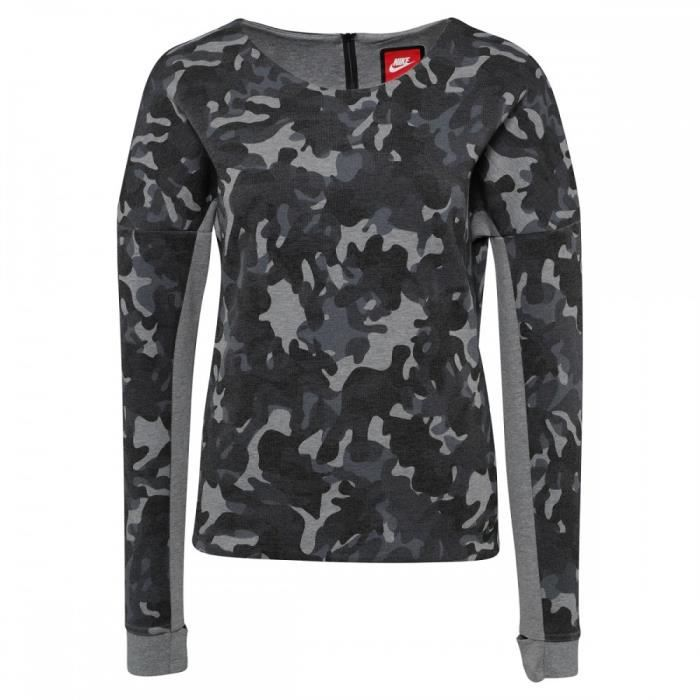 SWEATSHIRT Sweat Nike Tech Fleece Camo Crew 683796 091